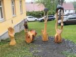 Prodej soch v Hojsově stráži.