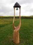 Dubová zvonička, výška 2m, cena 9.000,-Kč