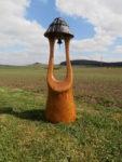 Zvonice. Materiál dub. Výška 160cm. Cena 9.500,-Kč.