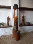 Dubová zvonice s motivem stromovouse a místem na 2 květináče. Orientační cena 17.000,-Kč.