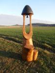 Dubová zvonice s místem na 2 květináče. Nátěr HK lazur. Výška 2m. Orientační cena 14.000,-Kč. U vyšší zvonice se mění cena.