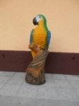 Papoušek. Výška 85cm. Cena 8.000,-Kč