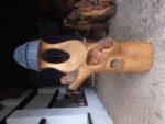 Zvonička s motivem zvířat. Materiál dub. Cena 25.000,-Kč